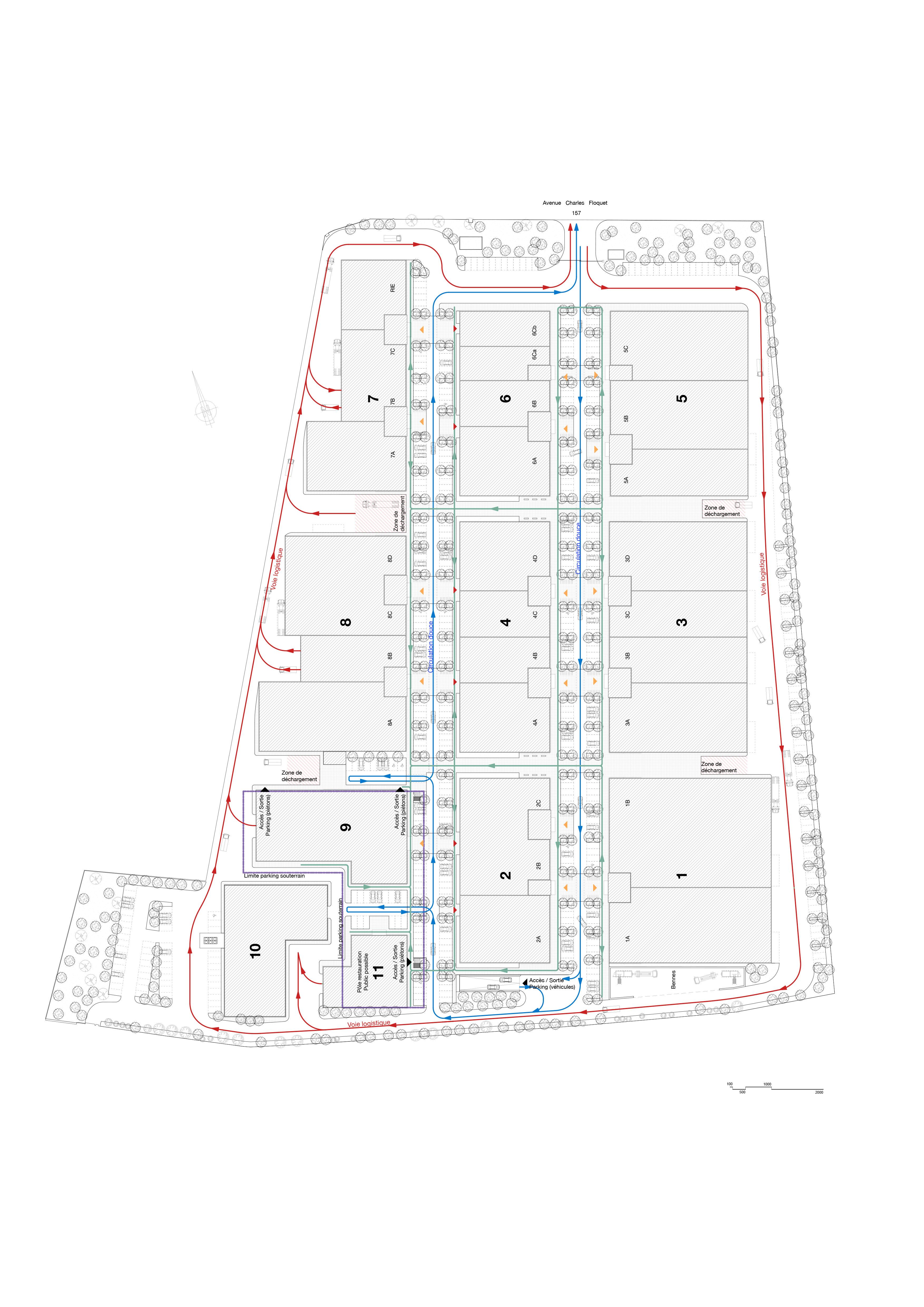 Querencia | Atelier d'architecture | Le Carré des Aviateurs - Le Blanc Mesnil | Plan Général