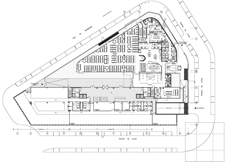 Querencia | Atelier d'architecture | Futura 3 | Siège Assystem France | Plan RDC