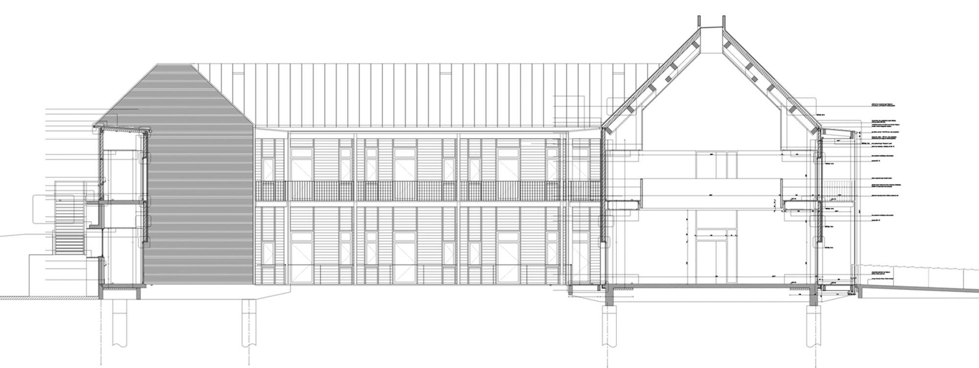 Querencia | Atelier d'architecture | Hôpital d'Arbois | Coupe