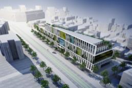 querencia architectes | atelier d'architecture | La Garenne Colombe - Ilôt Kébert | Immeuble de bureaux