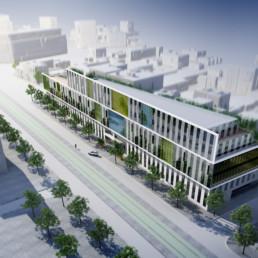querencia architectes   atelier d'architecture   La Garenne Colombe - Ilôt Kébert   Immeuble de bureaux