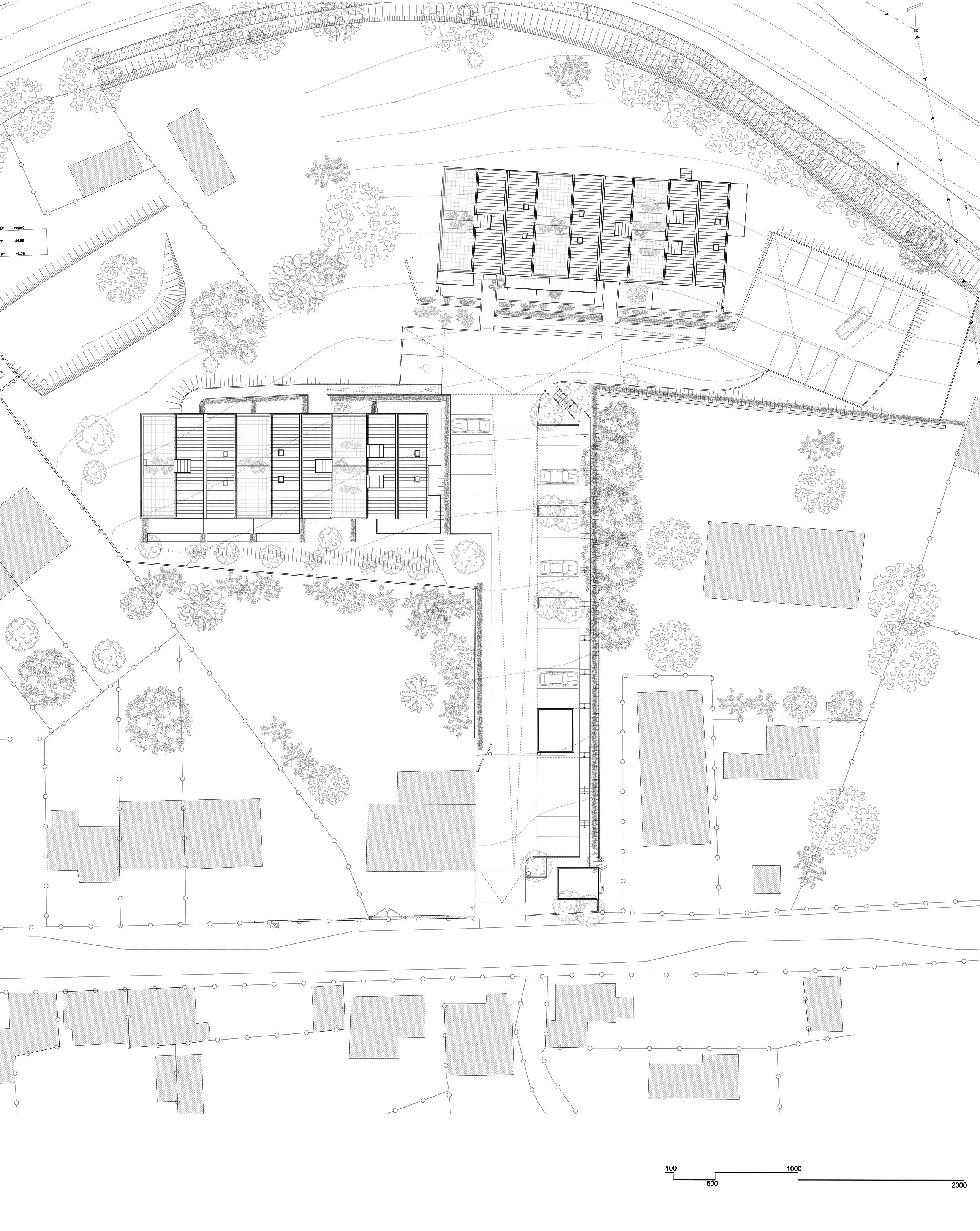 Querencia | Atelier d'architecture | Les Terrasses du Jet | Plan masse